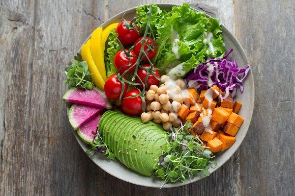 野菜中心の食事